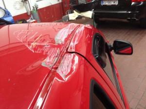 Karosserieschaden Dach Dacia