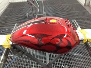 Motorrad - Lackierung rot