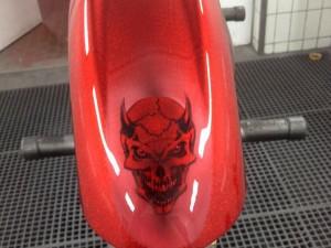 Lackierung Motorrad - Motiv Teufel