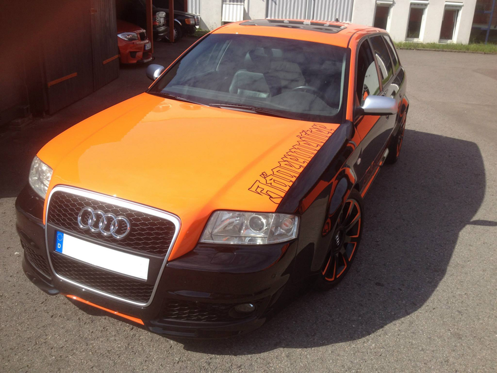 audi orange schwarz