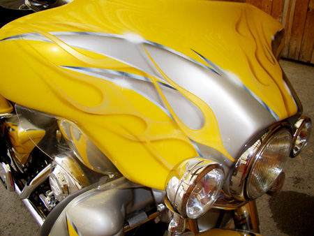 Lackierung Motorrad - Flammen